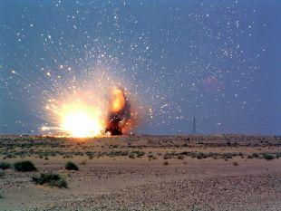 عملیات انتحاری ناموق در مسیر راه آهن بم-زاهدان