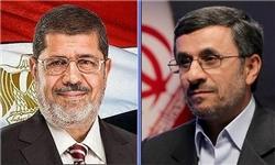 مرسی با احمدینژاد دیدار کرد