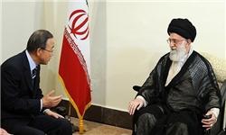 رهبر معظم انقلاب در دیدار دبیرکل سازمان ملل:جلوگیری از ارسال سلاح برای گروههای بیمسئولیت شرط طبیعی حل بحران سوریه است
