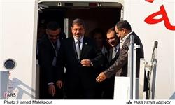 محمدمرسی رئیس جمهورمصر وارد تهران شد