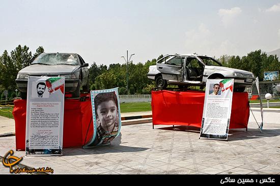 تصاویر  نمایش ماشینهای شهدای هستهای به هیئتهای شرکت کننده در اجلاس تهران
