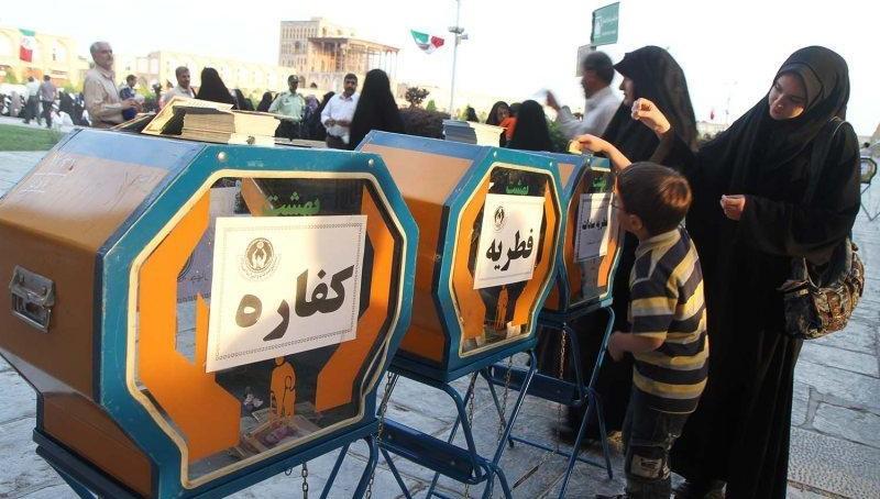 فطریه وکفاره جمع آوری شده در رفسنجان  توسط کمیته امداد امام خمینی (ره)