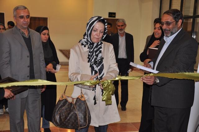 افتتاح نمایشگاه آثار هنرمندان رفسنجان
