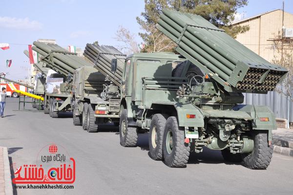گزارش تصویری یادواره ۱۷۱ شهید و گروه ۶۵ توپخانه صاعقه رفسنجان