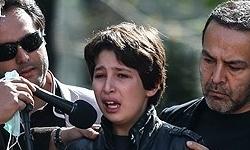 گریه فرزند عسل بدیعی و فریبرز عربنیا+عکس