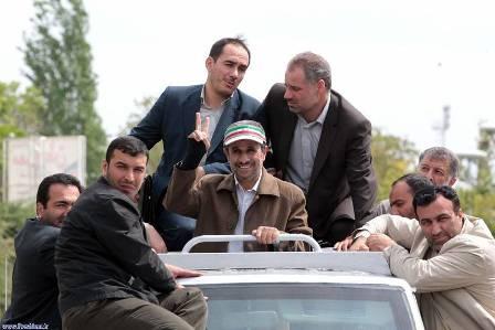 تیپ جدید احمدی نژاد +عکس