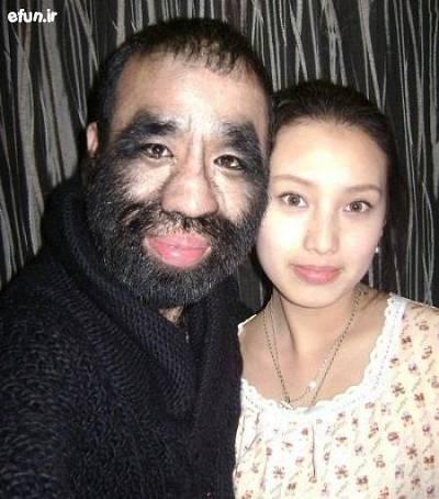 عکس/ پرموترین مرد جهان و همسرش