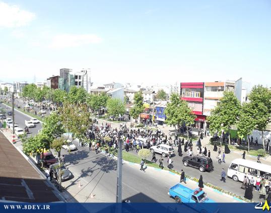 تصاویر استقبال سفارشی از احمدی نژاد در رشت