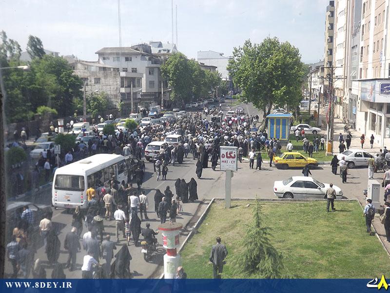 تصاویر استقبال سفارشی از احمدی نژاد در رشت+تصاویر
