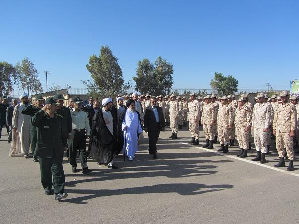 صبحگاه مشترک نیروهای مسلح و رونمایی از پل شهید حاج محمد کاظمی در رفسنجان
