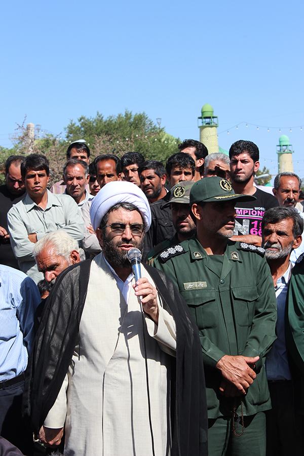 گلایه امام جمعه رفسنجان در مراسم تشییع پیکر شهید پوریوسفی
