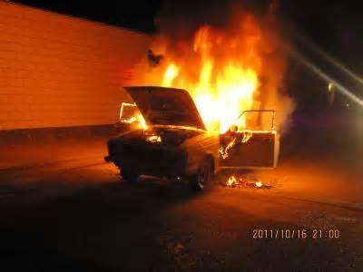 آتش سوزی یک دستگاه خودرو در رفسنجان