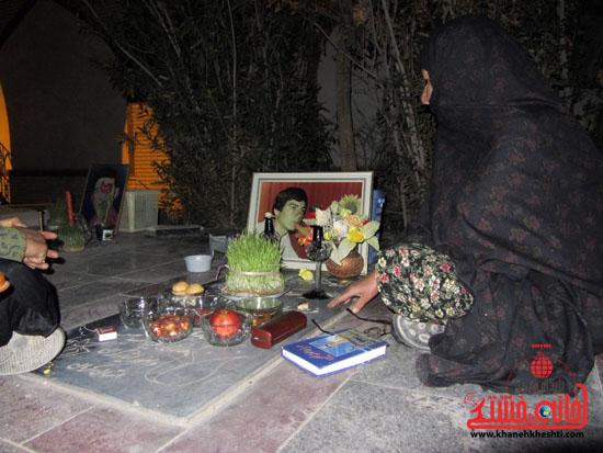 مراسم تحویل سال نو در جوار قبور شهدا رفسنجان (9)