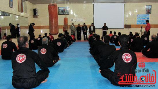 حضور مسئولین رفسنجان در جمع ورزشکاران باشگاه ورزشی کانگ فوتوآ ۲۱