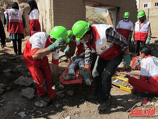 مانور زلزله و ایمنی در رفسنجان برگزار شد + تصاویر