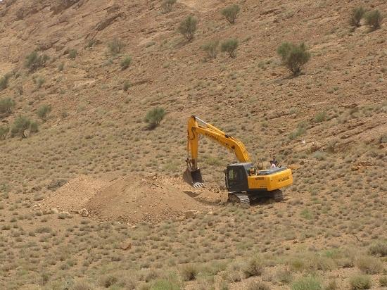 تخریب زیستگاه حیوانات وحش رفسنجان با حفر معدن