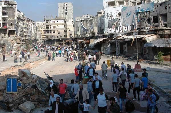 بازگشت زندگی به حمص قدیم + عکس