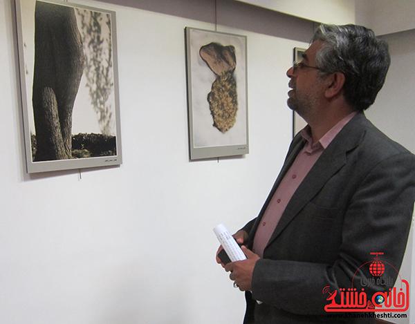 احمدی مسئول بسیج هنرمندان استان کرمان در نمایشگاه عکس