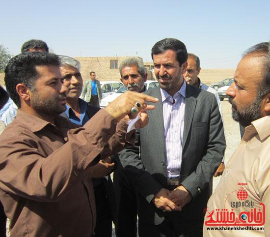 بازدید فرماندار رفسنجان از دهستان رضوان61