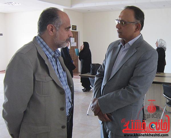 بازدید میرافضلی مدیر امور اجتماعی شرکت مس سرچشمه از نمایشگاه عکس