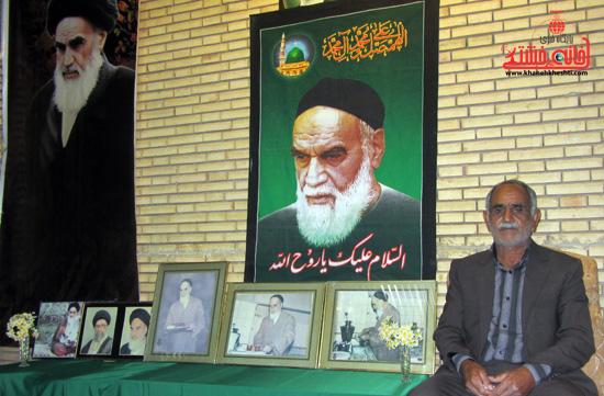 حسن بشکوهی-ارتحال امام خمینی(ره) -رفسنجان-خانه خشتی