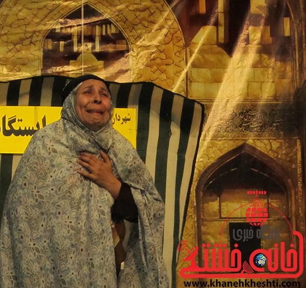 1تئاتر زیارت نطلبیده در گرامیداشت هفته رضوی در سالن افصح هجری رفسنجان