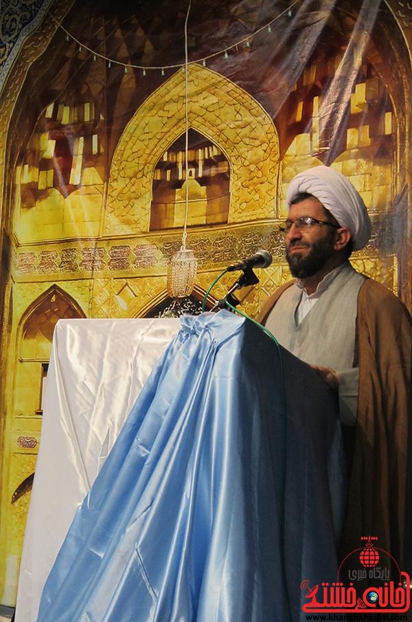 1hlhl امام جمعه رفسنجان_حجت الاسلام رمضانی پورویژه برنامه گرامیداشت هفته فرهنگ رضوی رفسنجان