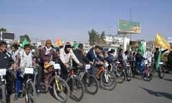 30 دوچرخهسوار رفسنجانی عازم جمکران شدند