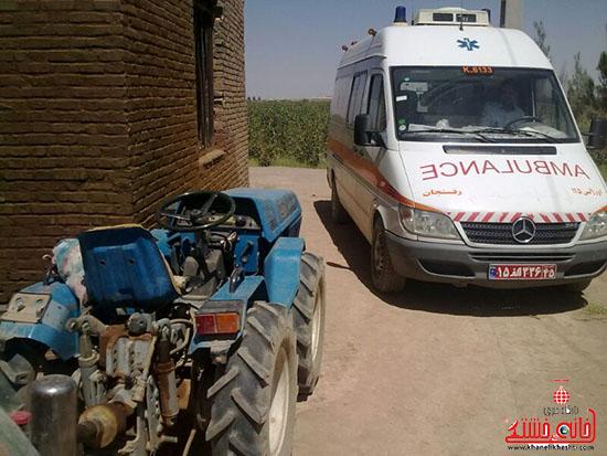 بی احتیاطی در کار با دستگاه سمپاش مرگ راننده تراکتور را رقم زد + عکس