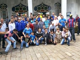 سه ستاره تیم بوسنی در نماز جمعه برزیل+ عکس