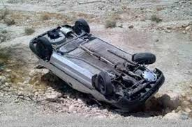 واژگونی پژو ۴۰۵ در محور یزد-انار یک کشته و ۲ مجروح برجای گذاشت