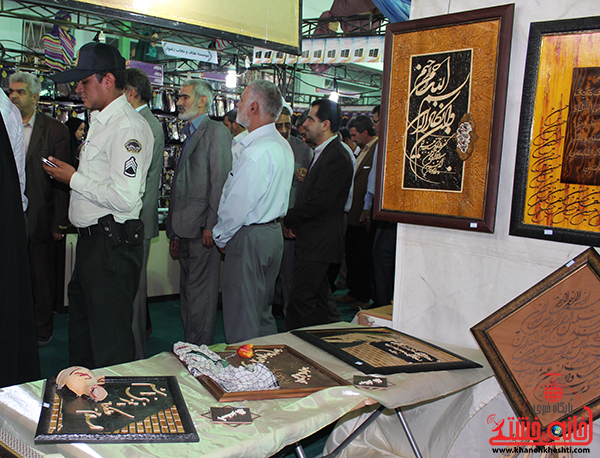 بازدید مسئولین از نمایشگاه بزرگ قرآن در رفسنجان4
