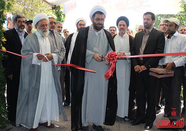 بازدید مسئولین از نمایشگاه بزرگ قرآن  و حجاب و عفاف در رفسنجان3