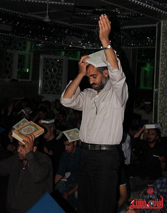 تصاویر برگزاری مراسم سومین شب بخشیده شدن در مساجد و تکایای رفسنجان