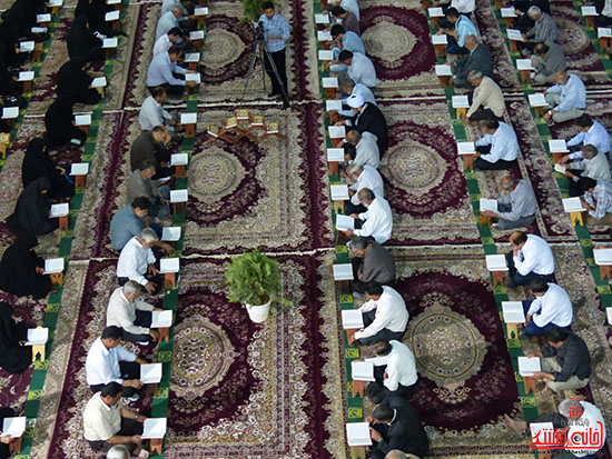 تصاویرجمع خوانی قرآن در رفسنجان-خانه خشتی (3)