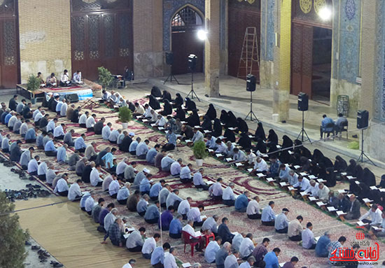 گزارش تصویری آئین جمع خوانی قرآن کریم در رفسنجان(۲)