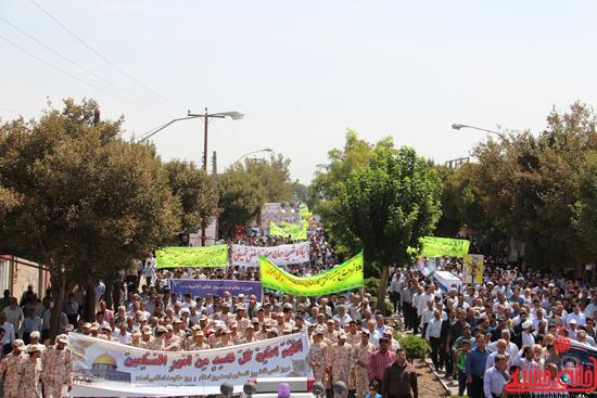 دوربین خانه خشتی در راهپیمایی روز جهانی قدس در رفسنجان (4)