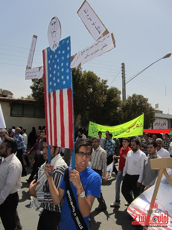 راهپیمایی روز جهانی قدس در رفسنجان11
