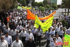راهپیمایی روز قدس در رفسنجان
