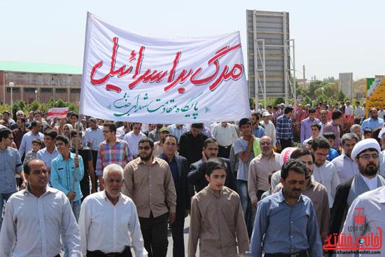 مسیر راهپیمایی روز قدس در رفسنجان