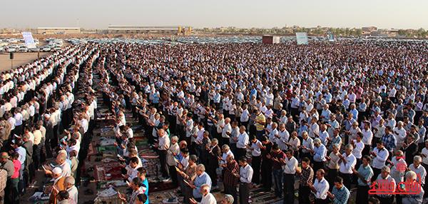 نماز عید فطر در مصلا امام خامنه ای رفسنجان18