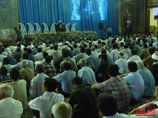 وداع  با ماه مبارک رمضان در مسجد جامع رفسنجان