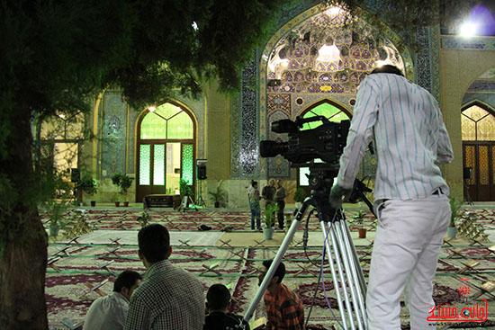 پشت صحنه پخش زنده ی آئین جمع خوانی قران کریم در رفسنجان (10)