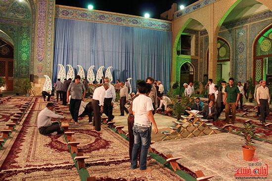 پشت صحنه پخش زنده ی آئین جمع خوانی قران کریم در رفسنجان (12)