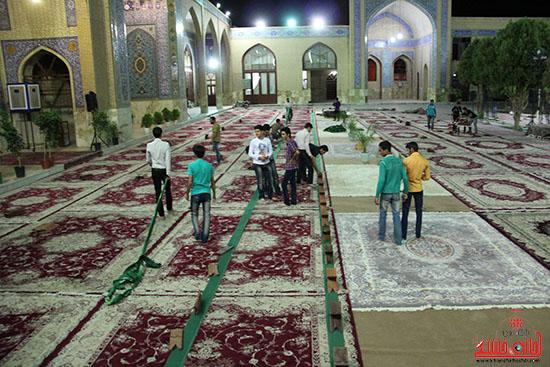 پشت صحنه پخش زنده ی آئین جمع خوانی قران کریم در رفسنجان (2)
