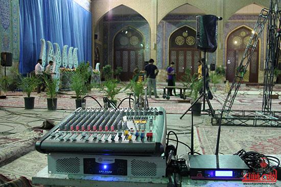 پشت صحنه پخش زنده ی آئین جمع خوانی قران کریم در رفسنجان (5)