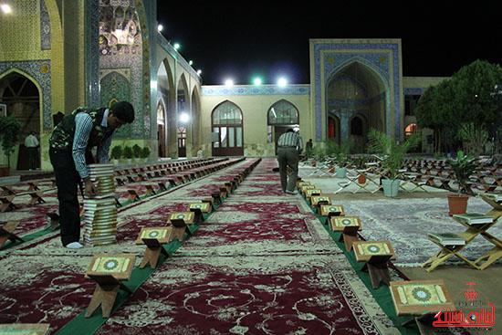 پشت صحنه پخش زنده ی آئین جمع خوانی قران کریم در رفسنجان (7)