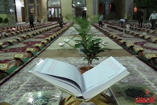 پشت صحنه پخش زنده ی آئین جمع خوانی قران کریم در رفسنجان (8)