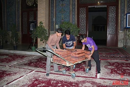 پشت صحنه پخش زنده ی آئین جمع خوانی قران کریم در رفسنجان