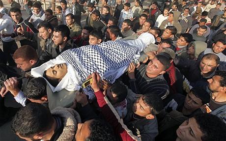 تصاویر دردناک از یک روز خونین غزه